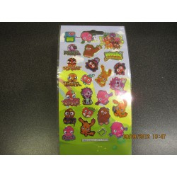Fun Foiled Stickers - Small - Moshi Monsters