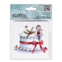 Christmas Cake - Tulip 4 x 4 Urban Stamp - Papermania""