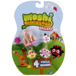 Puzzle Erasers 4 Pack Blister - Moshi Monsters